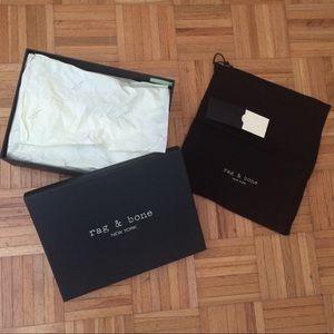 Rag & Bone Box dust bag tissue paper & Card